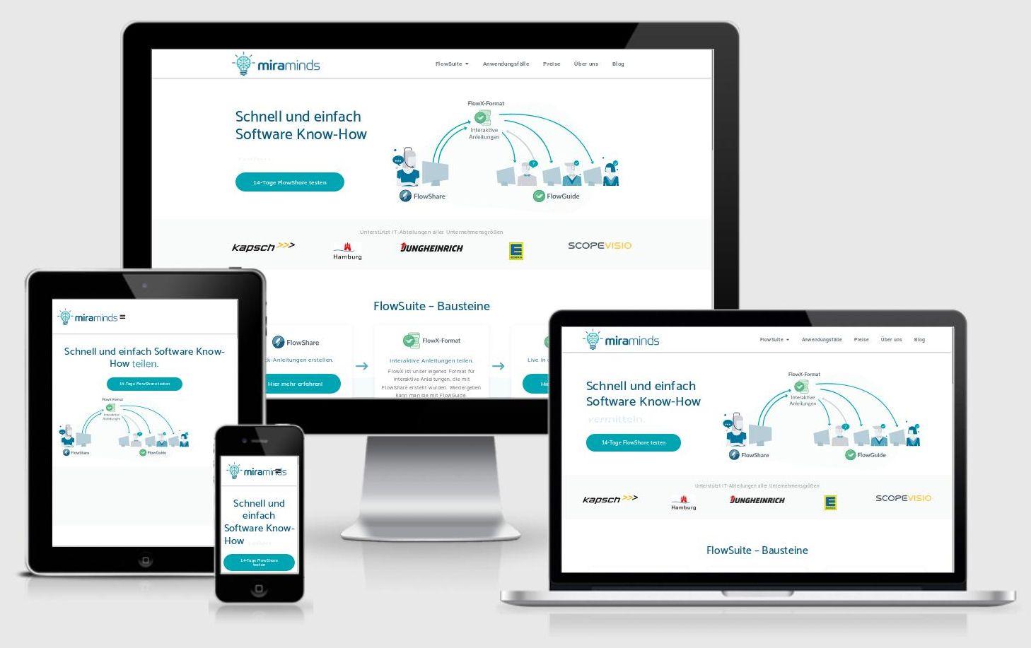 https://Miraminds.com Technische Website-Optimierung: Sicherheit, Ladezeit, etc.