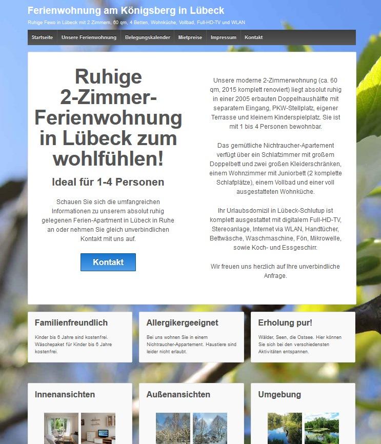 Website für eine Ferienwohnung